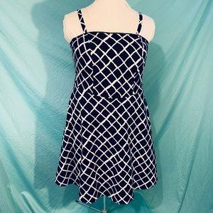 Black and White Rockabilly Dress 1x